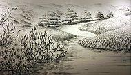 Sadece Parmaklarının Ucuna Sürdüğü Boyayla Resimler Yapan Sanatçıdan 19 Eser