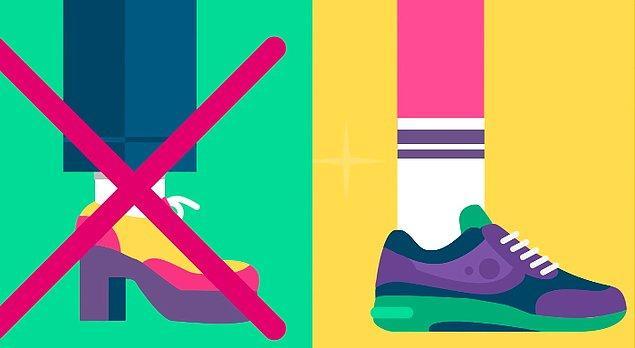 4. Mümkün olduğunca yüksek topuklu olmayan ve yaylanmanızı sağlayan ayakkabılar tercih edin.