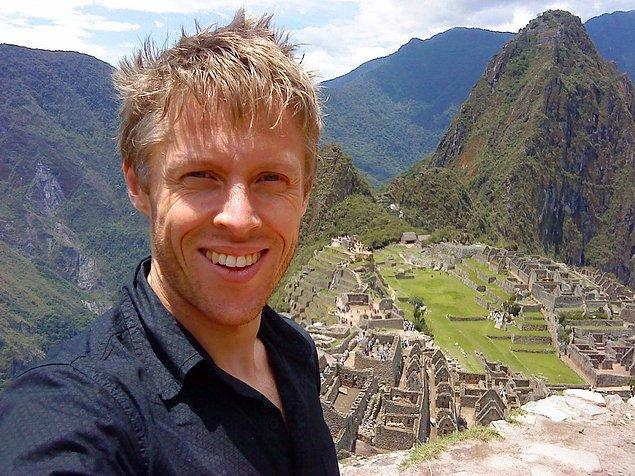 Gunnar Peru'yu ziyaret ettiğinde İnka antik şehri Machu Picchu'yu görmeden dönmemiş.