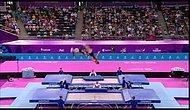 Trambolinden Dışarı Uçan Atleti Yakalamak
