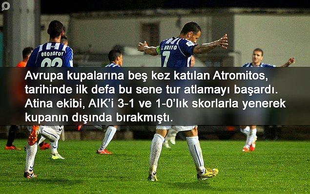 BİLGİ   Atromitos, deplasmanda oynadığı son üç Avrupa maçını da kazandı