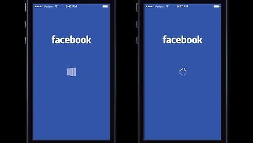 Facebook, uygulama yükleniyor animasyonu için A/B testi yaptı.