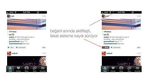 Instagram'da 2011 yılından beri kullanıcı aldığı aksiyonun etkisini anında görüyor.