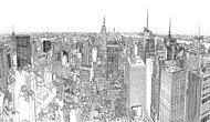 Patrick Vale çizimiyle hızlandırılmış olarak NYC'yi hayata getiriyor