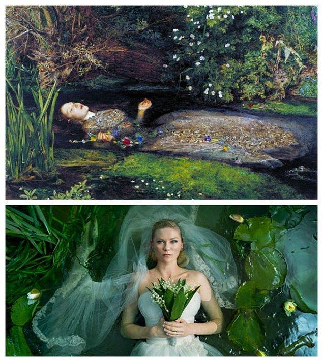 3. Lars von Trier'in Melankoli filmi ve John Everett Millais'in Ophelia eserinden