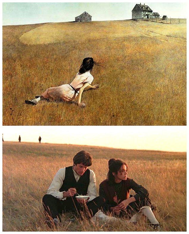 9. Terrence Malick'in Cennet Günleri ve Andrew Wyeth'in Christina's World adlı eserinden