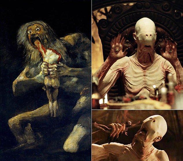 13. Guillermo del Toro'nun yönetmeni olduğu Pan'ın Labirenti filmi ve Goya'nın Saturn Devouring His Son adlı tablosundan esinlenmiştir.