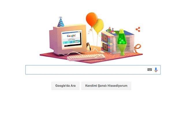 Google, Kendi Doğum Gününü Kutladı