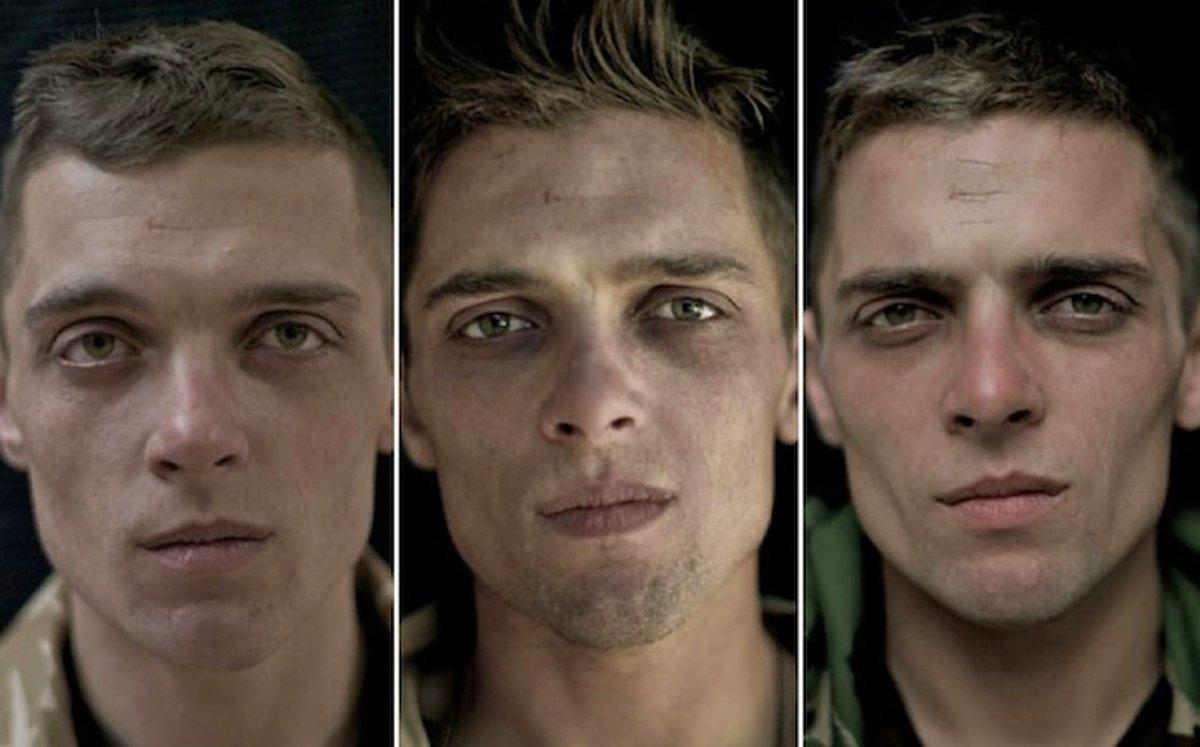 portrait of soldier - Private Chris MacGregor, 24-years old