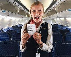 Cam Kenarında Uçacak Yolcularımızın Dikkatine: Hostesinizin Size Ufak Bir Notu Var