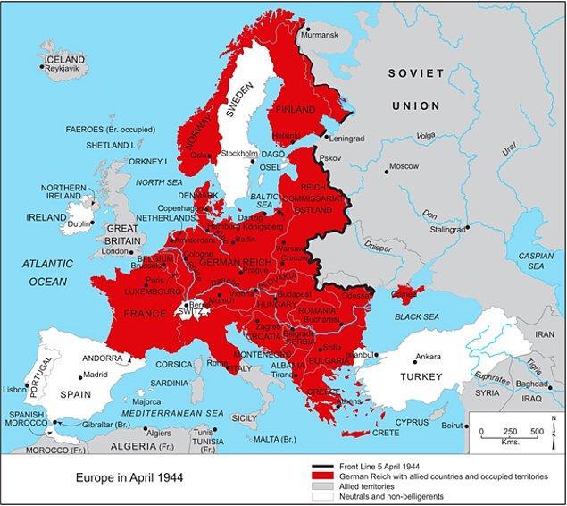 14. Bütün ülkeler içinde Almanya, başka ülkeleri işgal arzusuna en az kendini kaptırmış ülke.