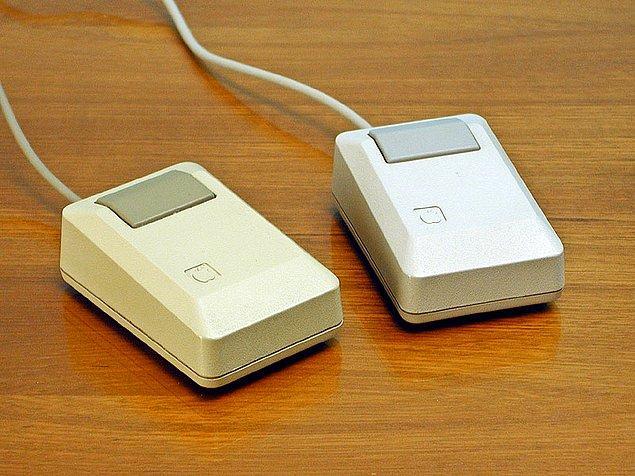 """6. Macintosh """"fare"""" denilen harici bir işaretleme cihazı kullanıyor. İnsanların bunu kullanmak isteyeceğini sanmıyorum."""