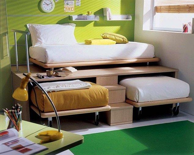 2. Aynı odada iki kişi kalmak zorunda olanlar için ideal fikir.