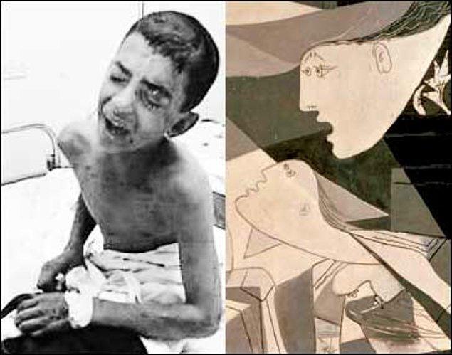 Picasso'ya göre sanatçı, insanlığın ve uygarlığın en temel değerlerinin yok edilme tehlikesi ile karşı karşıya kaldığı bir savaşta kayıtsız kalamazdı.