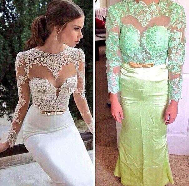 Например, такое платье может прийти, когда до свадьбы осталось всего несколько дней!