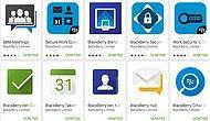 Tüm Blackberry Uygulamaları Google Play'de