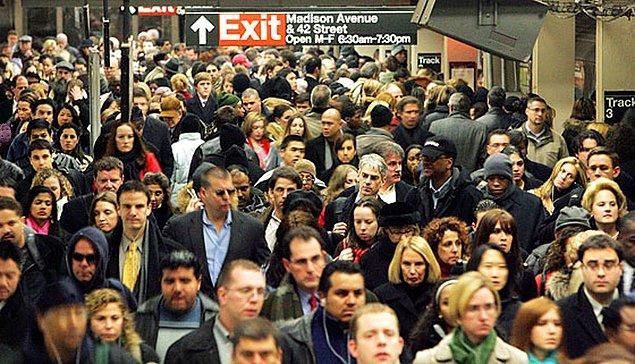 5. Manhattan'ın nüfus yoğunluğuna göre ise,