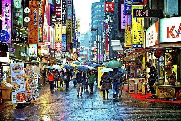 8. Güney Kore'ye bakılarak hesaplandığında ise: