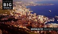 Timelapse Görüntüler Eşliğinde Monaco'nun Minyatürize Edilmiş Muhteşem Manzaraları