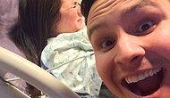 Selfie Çılgınlığına Bir Yenisi Eklendi: Eşi Doğum Yaparken Selfie Çeken Koca
