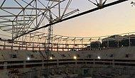 Vodafone Arena'da Çatı Kaldırma İşlemi Tamamlandı