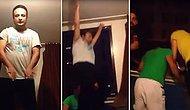 Dans Ederken Camdan Düşüp Yere Çakılan Adam