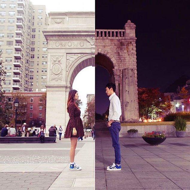 Пара влюбленных, разделенных расстоянием, нашли оригинальный способ общения друг с другом