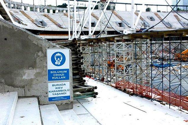 Muhammet, stadın bir an önce tamamlanması için 2 senedir para biriktiriyormuş.