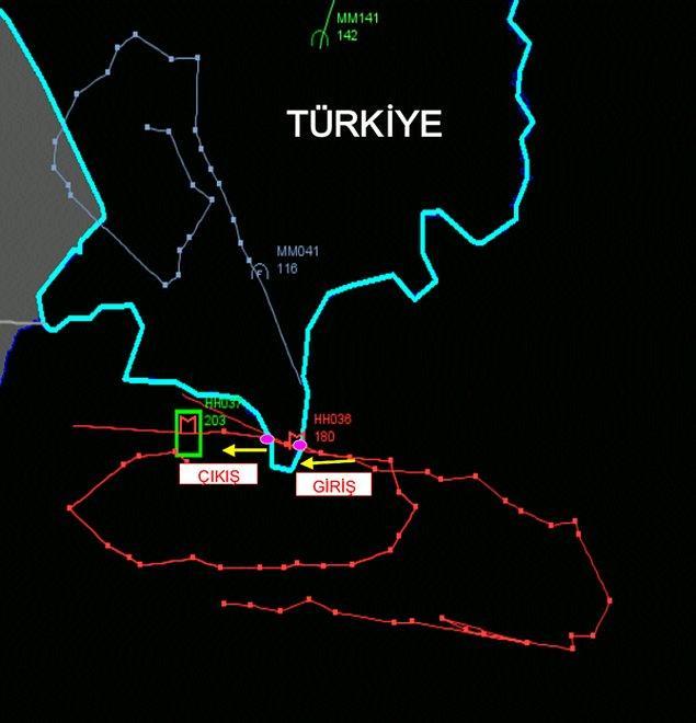 Rusya'nın sınır ihlal etmedik açıklaması sonrası TSK vurulan uçağın iz analizini paylaştı