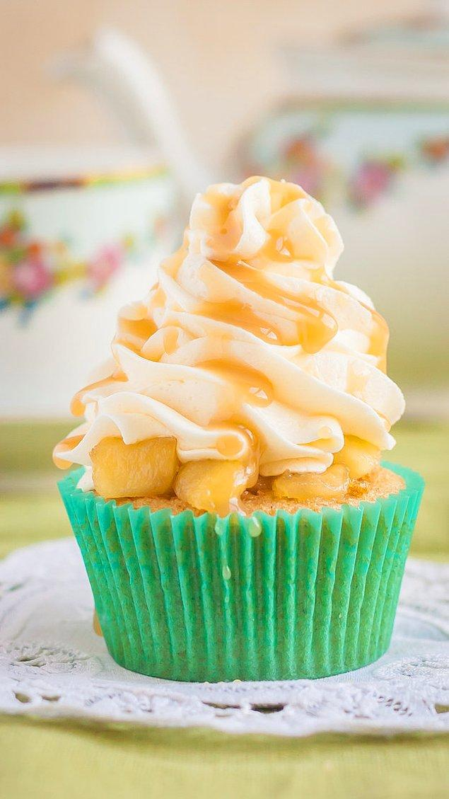 1. Cupcake tarifi: Elmalı payı bir cupcake'e eklemek ister misiniz?