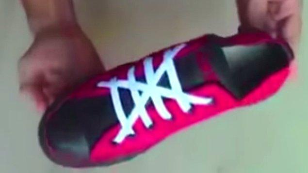 İşlemler bittikten sonra ayakkabı gayet hoş bir şekle giriyor.
