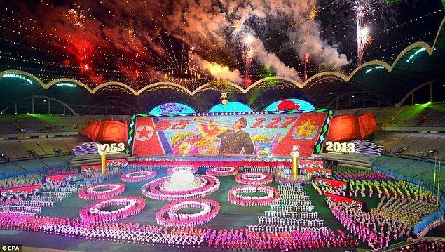 Gösteri harikaydı! Kuzey Kore savaşı kaybetti!