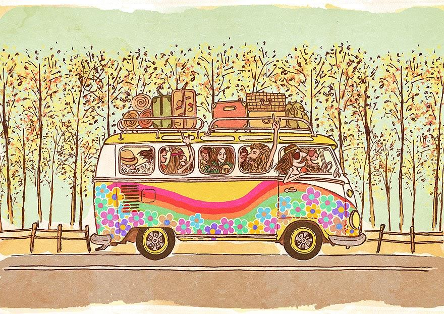 Автобус для открытки