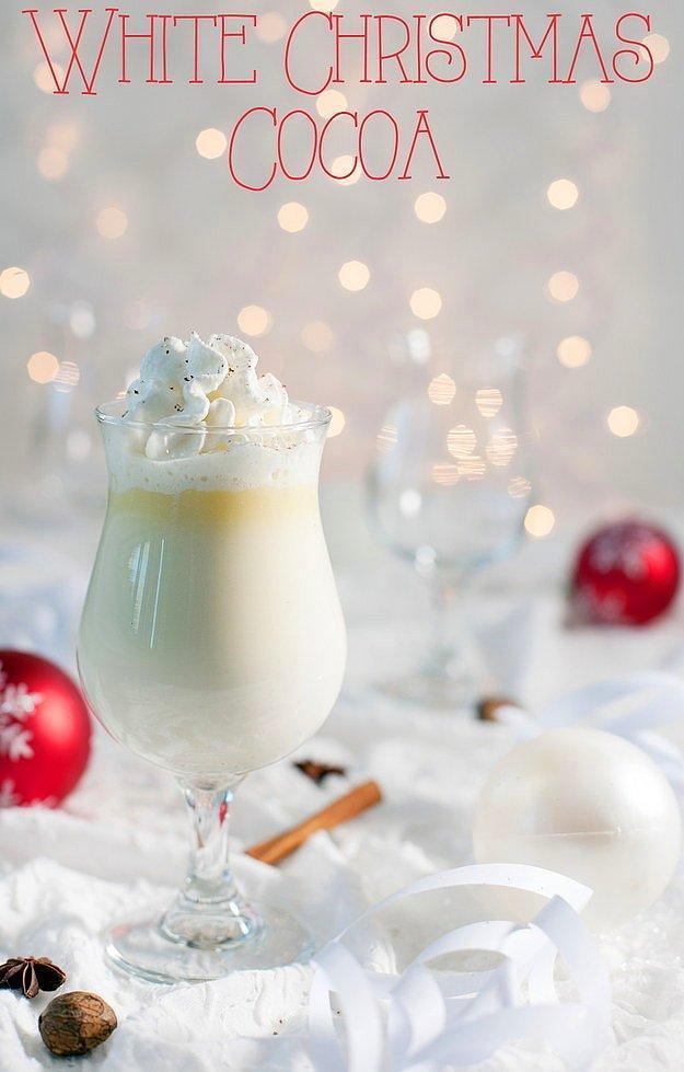 Белое рождественское какао со специями.