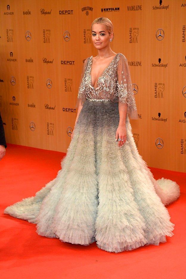 Рита Ора на немецкой телевизионной и журналисткой премии «Бэмби».
