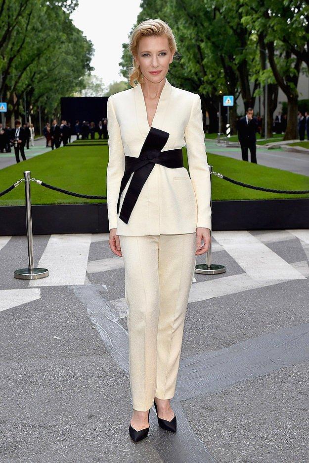 Кейт Бланшетт на 40-летней годовщине бренда Giorgio Armani.