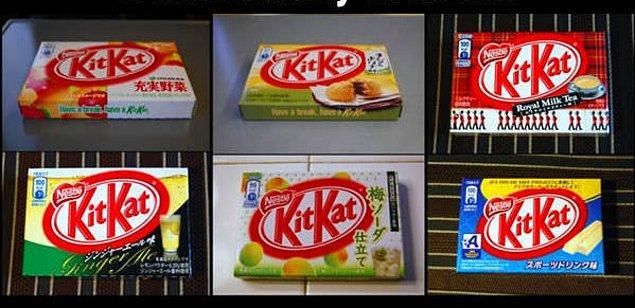 12. Pek çok farklı çeşitte KitKat...
