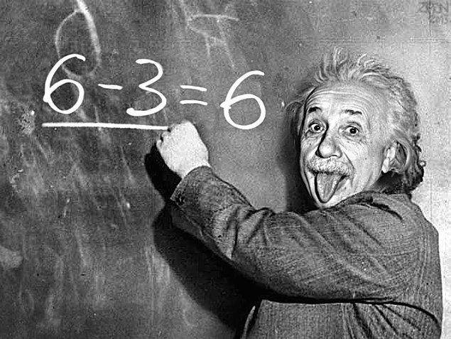 Einstein kadar zekisin!