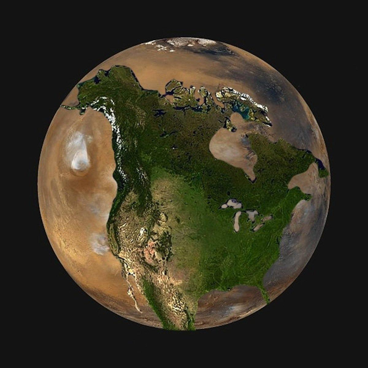 mars compared to earth - HD1200×1200
