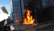 Kosova'da Başbakanlık Binasını Ateşe Verdiler