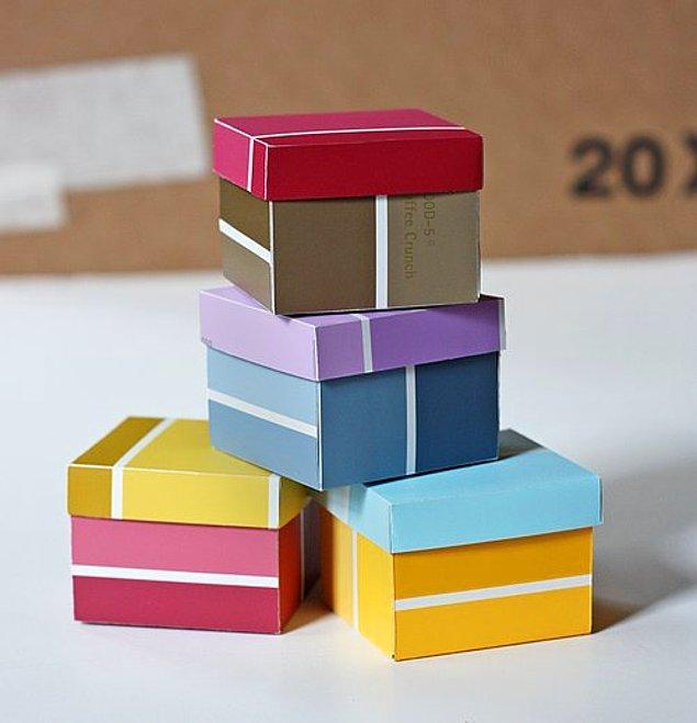 16. Minik kutular her zaman kullanışlı olabilir.