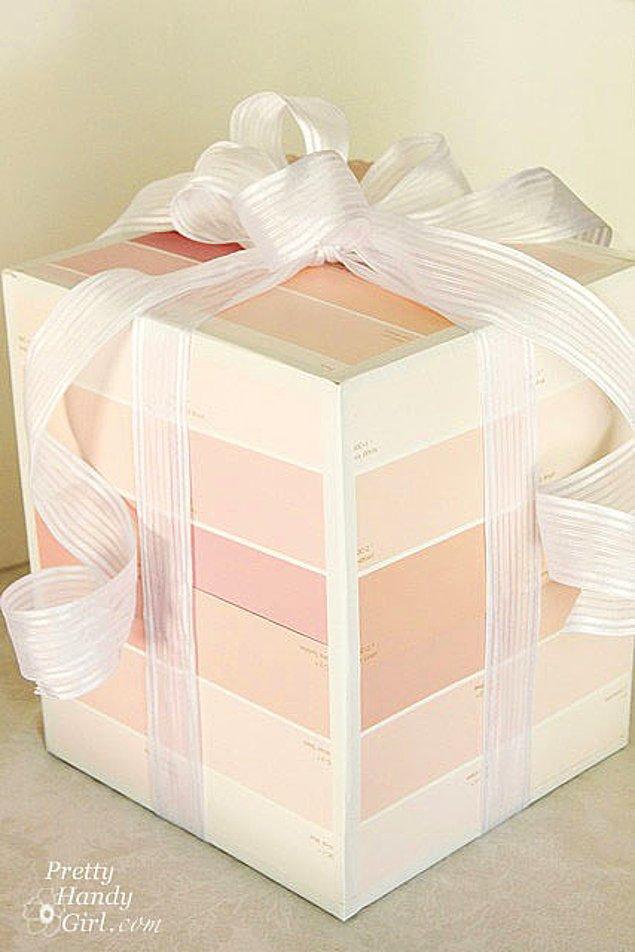 17. Peki ya kocaman bir hediye paketi?