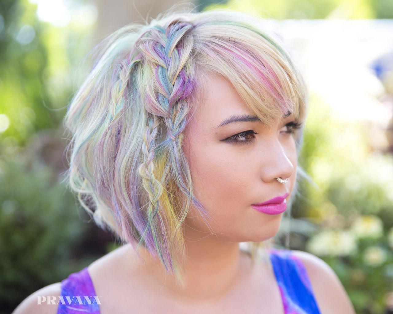 Yeni Yılın Ilk Renkli Saç Trendi Geldi Sulu Boya Saçlar Onediocom