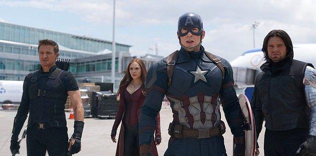 3. Captain America ve Iron Man Captain America: Civil War filminde 6 Mayıs'ta başbaşa.
