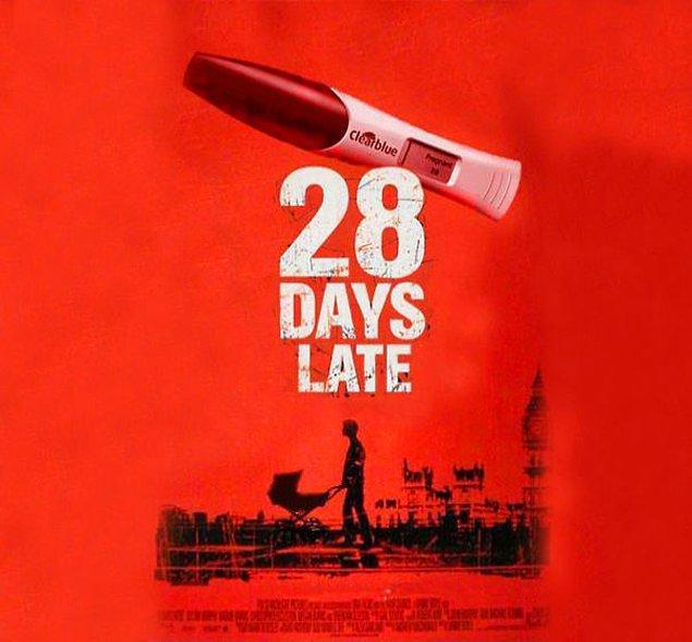 Буду через 28 дней.