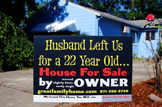 Другие же объявили об измене во время продажи дома ..