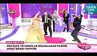 evlilik programında apaçi dansı yapan gelin ve damat