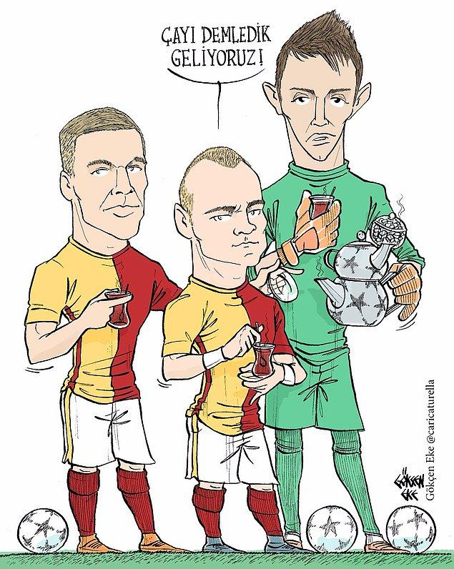 5. Çayı demledik geliyoruz - Podolski, Sneijder, Muslera
