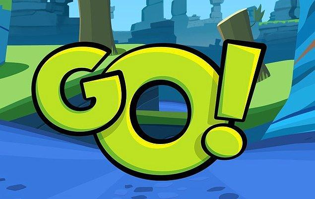 """1. """"Go!"""" İngilizce kısa dil bilgisi açısından doğru bir cümledir."""