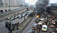 Uber'e Tepki Gösteren Taksi Şoförleri Paris Trafiğini Birbirine Kattı